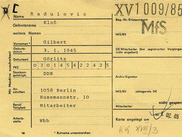 VorgangskarteiderOPK(OperativePersonenkontrolle) 'Schreiber'