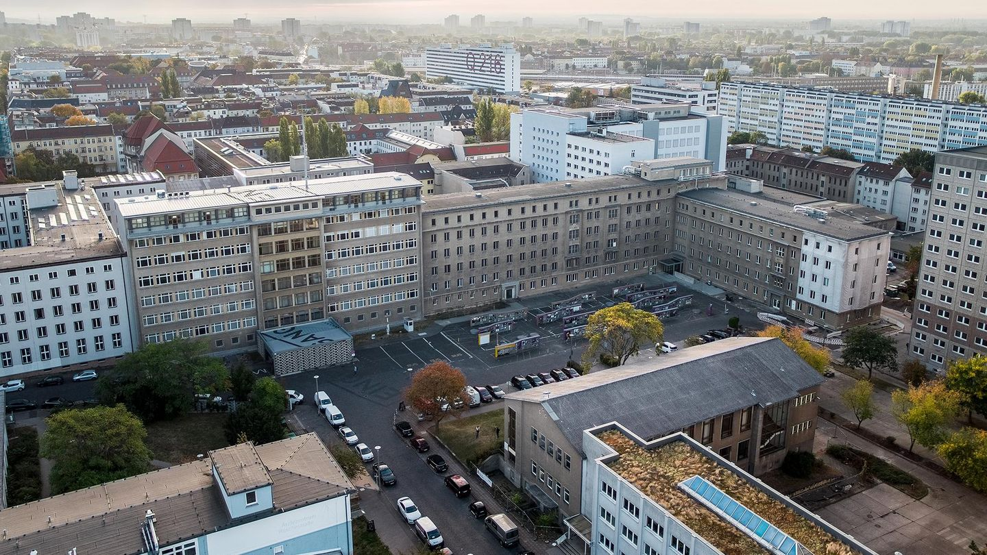 View on the former Stasi headquarters, Source:                 BStU / Drone brothers