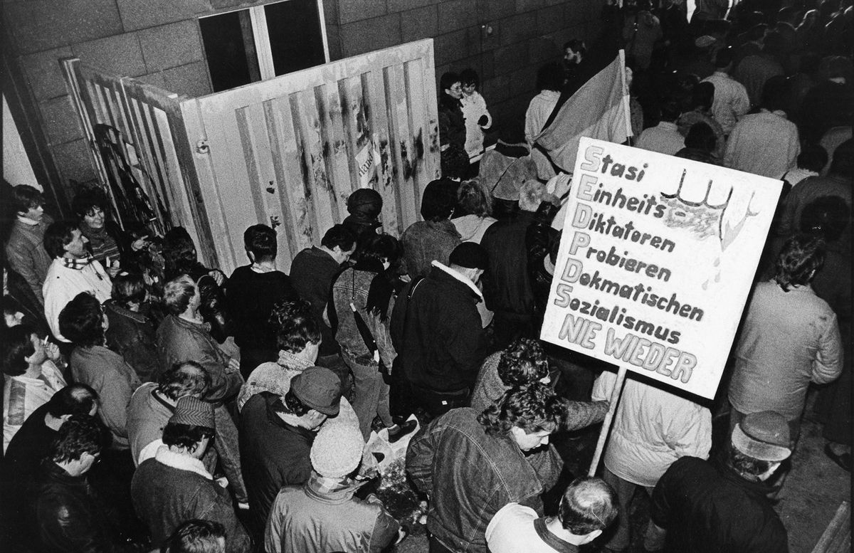 Occupation of the Stasi headquarters on January 15th in 1990